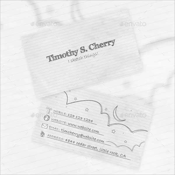 Custom Sketch Business Card