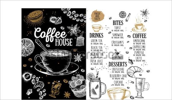 Customizable coffee shop flyer design