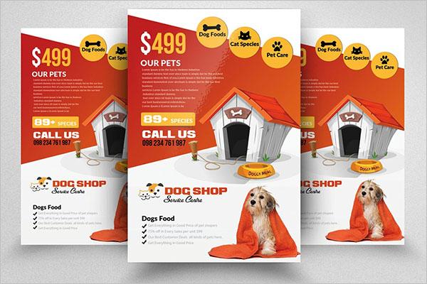 Customize Dog Service Flyer Design