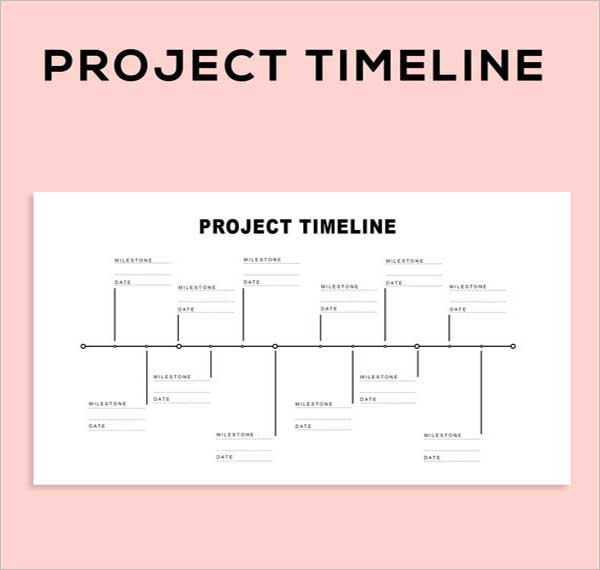 Digital Project Schedule Template