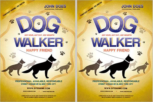 Dog-Service-Graphic-Flyer-Design