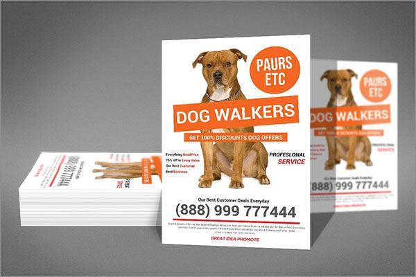 Dog Service Idea Flyer Design