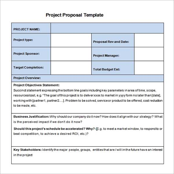 Education Project Proposal Template