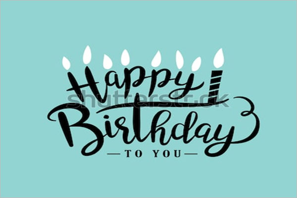 Elegant Birthday Postcard Template
