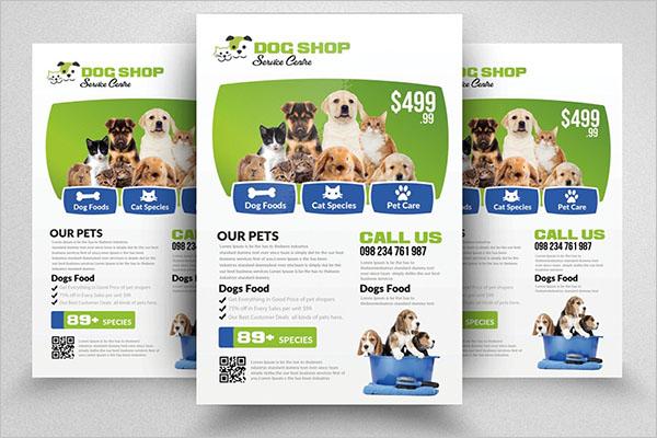 Elegant Dog Service Flyer Design