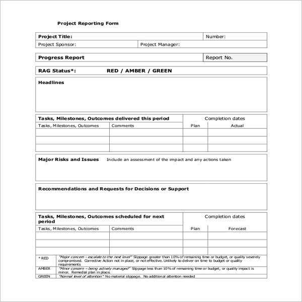 Employee Project Tracking Template