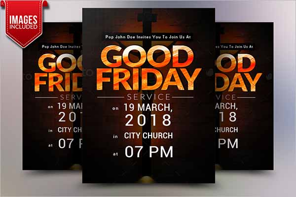 Good Friday Church Flyer Design
