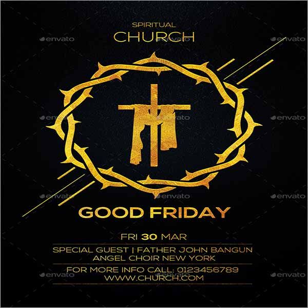Good Friday Event Flyer Design
