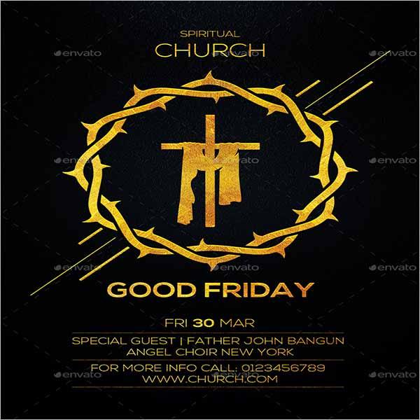 Good Friday Event Flyer Design