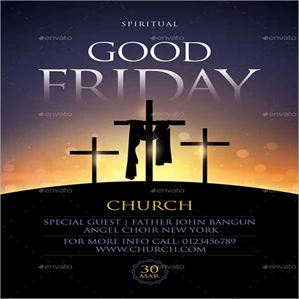 Good Friday Flyer Design Example