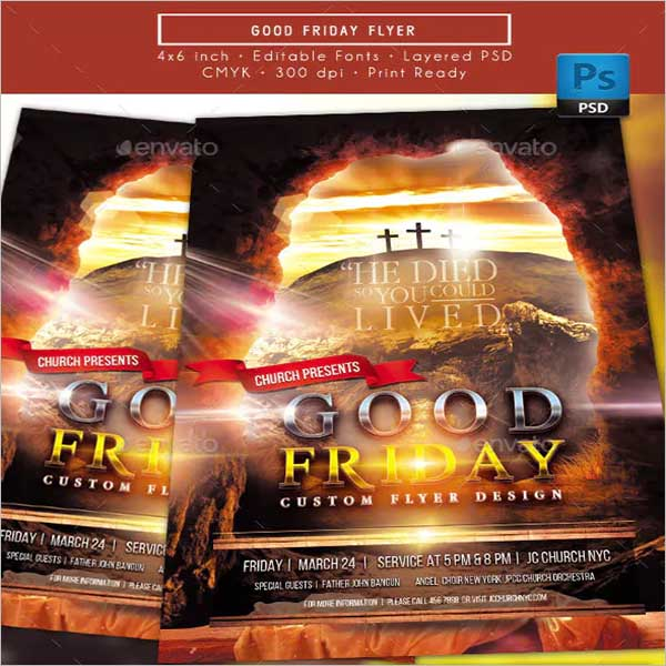 Graphic Good Friday Flyer Design