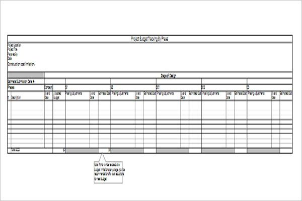 Marketing Project Budget Template