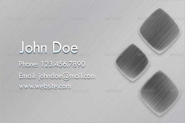 Metallic Sketch Business Card