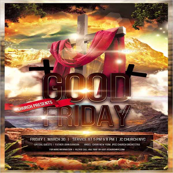 Modern Good Friday Flyer Design