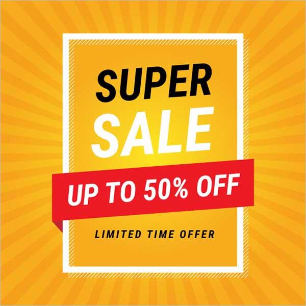 Modern Super Sale Flyer Design