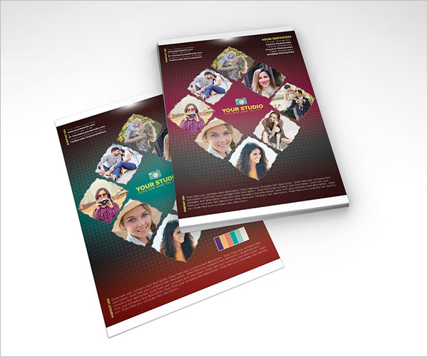 Photo Collage Flyer Cover Page Template
