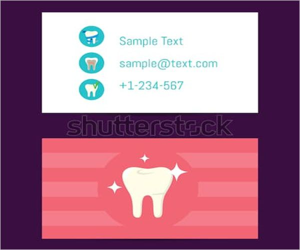 Plain-Dental-Care-Business-Card-Template