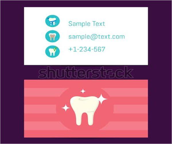 Plain-Dental-Care-Business-Card-Template