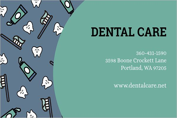 Printable-Dental-Care-Business-Card-Design