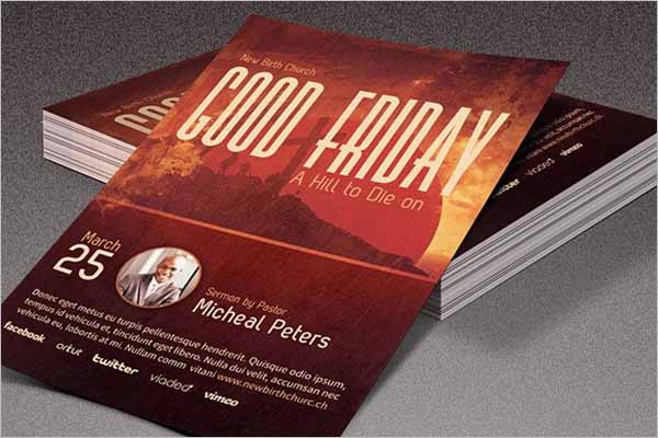 Printable Good Friday Flyer Design
