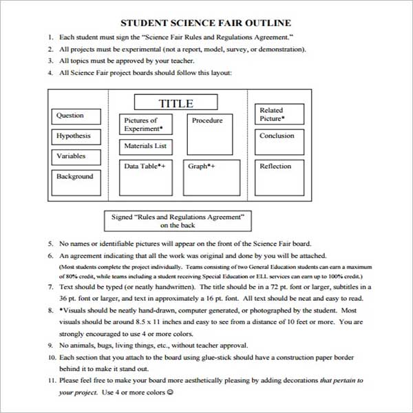 Project Outline Template Free Word Doc