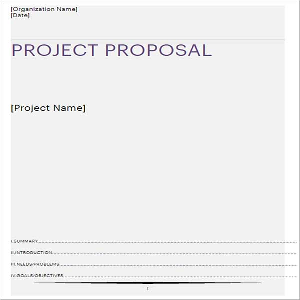 Project Proposal Template Excel