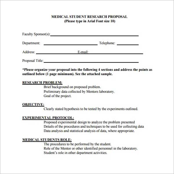 Project Research Proposal Template
