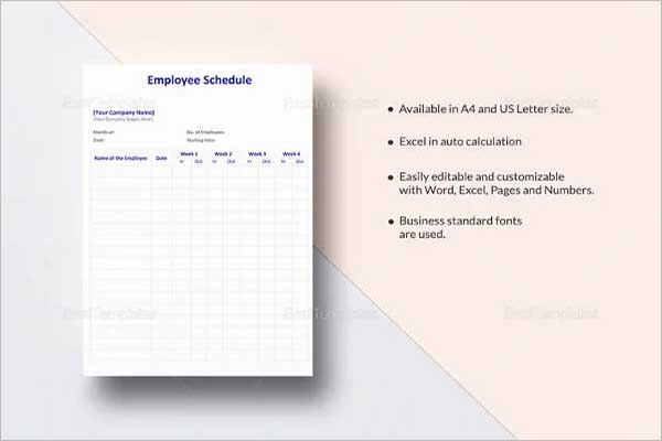 Project Schedule Template Word