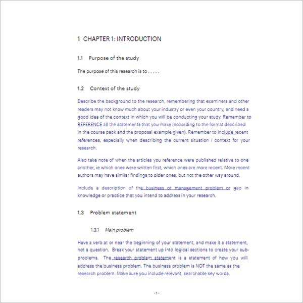 Research Proposal Template Free Download