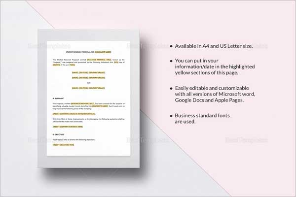 Research Proposal Template Ideas