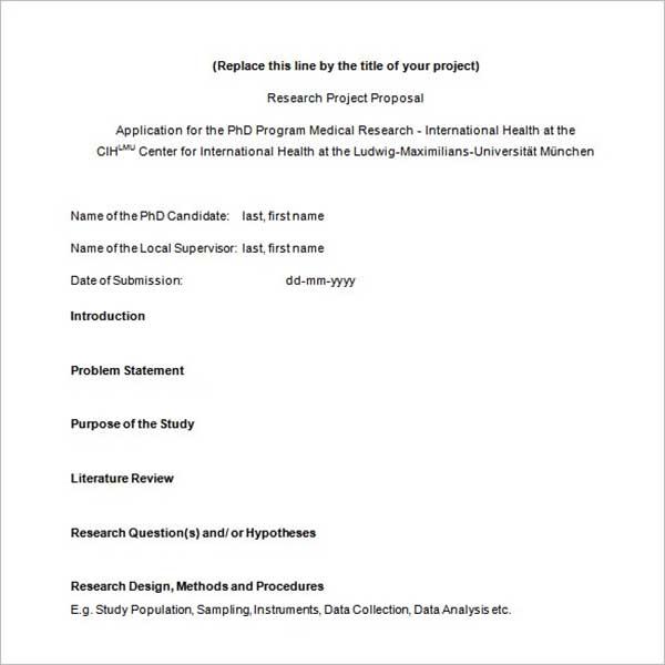 Research Proposal Template PDF