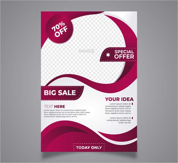 Sale Flyer Abstract Design