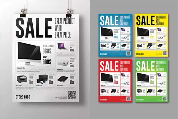 Sale Flyer Design PSD