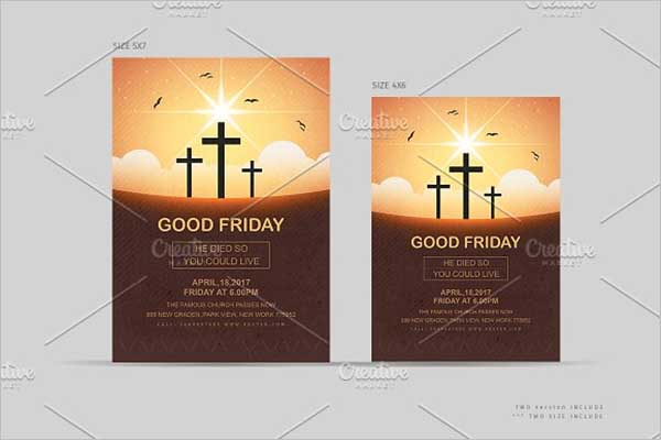 Sample Good Friday Flyer Design