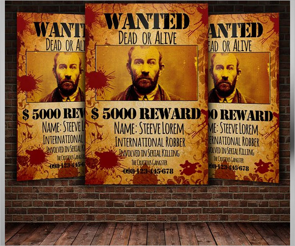 Wanted Reward Flyer Design