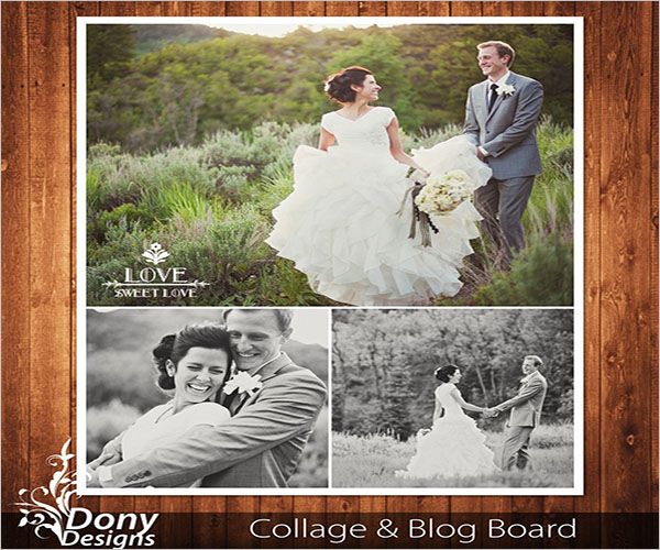Wedding Photo Collage Flyer Template