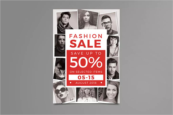 advertisement photo collage flyer template