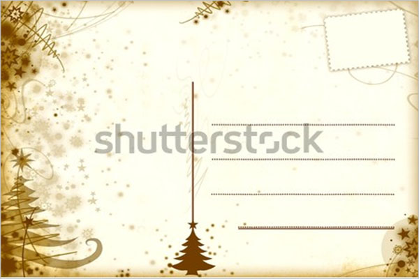 advertising blank postcard design