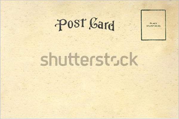 blank digital postcard design