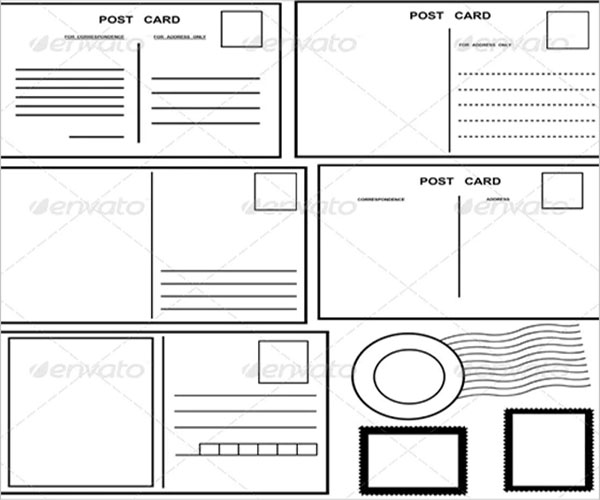 blank postcard best design