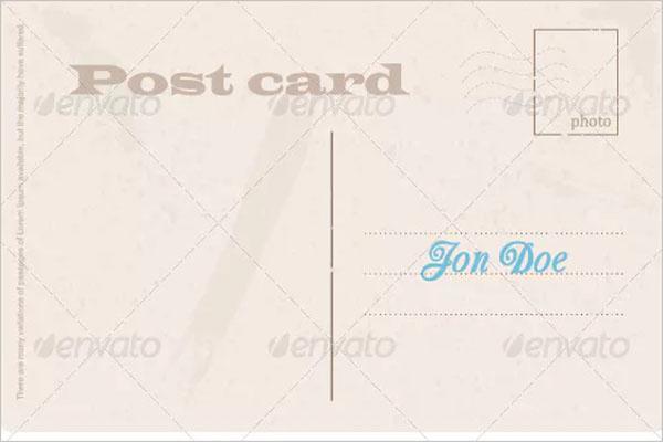 blank postcard psd design