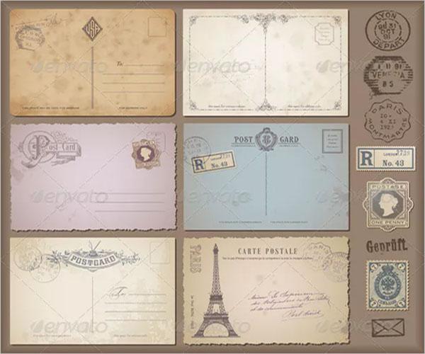 blank postcard unique design