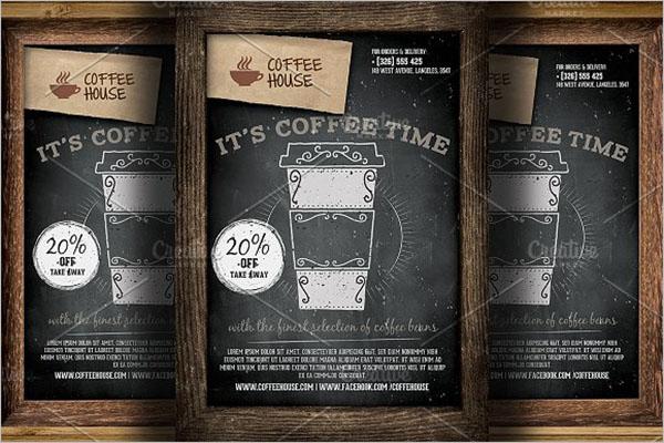 coffee shop brochure flyer design