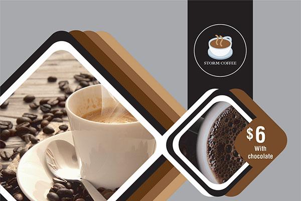 coffee shop concept flyer design