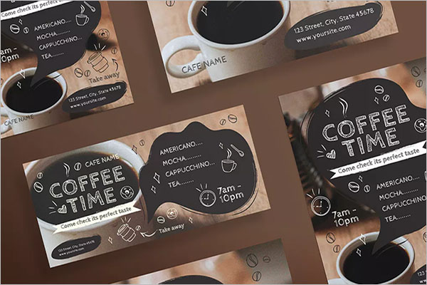 coffee shop opening flyer