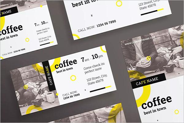 coffee shop promotion flyer design