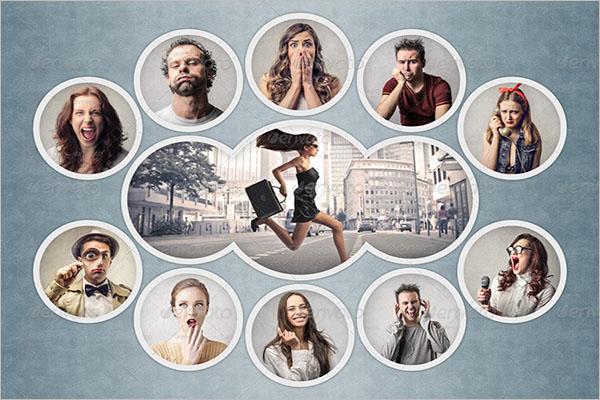 elegant photo collage flyer design