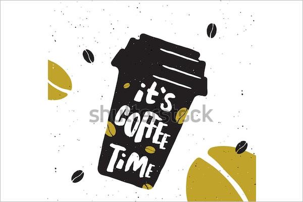 free coffee flyer psd design