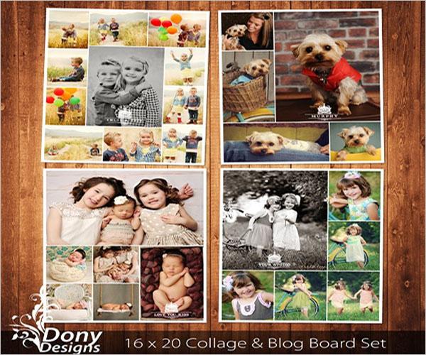 graphic photo collage flyer design