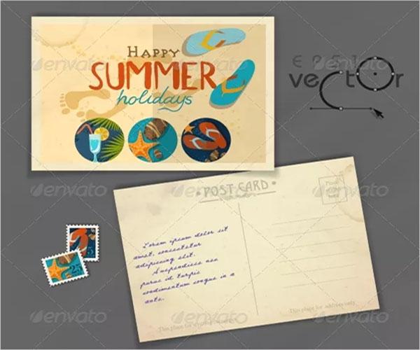 personalised blank postcard design